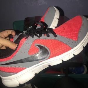 Red bike running shoes